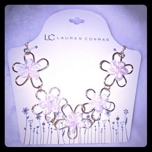LC Lauren Conrad flower necklace.
